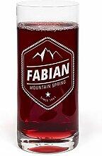printplanet® Glas mit Namen Fabian graviert -