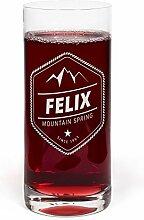 printplanet® Glas mit Namen Felix graviert -
