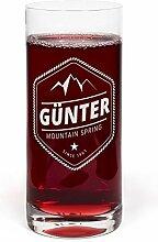 PrintPlanet® Glas mit Namen Günter graviert -