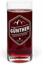 printplanet® Glas mit Namen Günther graviert -