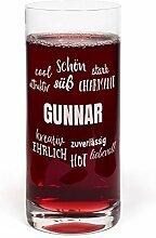 PrintPlanet® Glas mit Namen Gunnar graviert -
