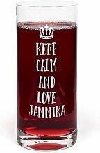 PrintPlanet® Glas mit Namen Jannika graviert -
