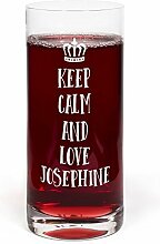 PrintPlanet® Glas mit Namen Josephine graviert -