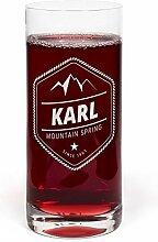 printplanet® Glas mit Namen Karl graviert -