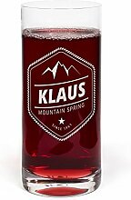 PrintPlanet® Glas mit Namen Klaus graviert -