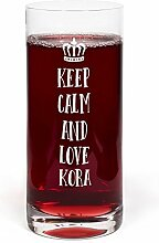 PrintPlanet® Glas mit Namen Kora graviert -