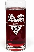 PrintPlanet® Glas mit Namen Lennart graviert -