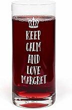 PrintPlanet® Glas mit Namen Margret graviert -