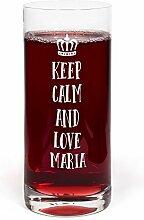 PrintPlanet® Glas mit Namen Maria graviert -