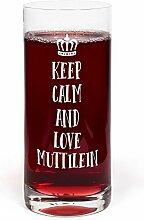 PrintPlanet® Glas mit Namen Muttilein graviert -