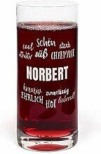 printplanet® Glas mit Namen Norbert graviert -