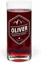 PrintPlanet® Glas mit Namen Oliver graviert -