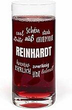 PrintPlanet® Glas mit Namen Reinhardt graviert -