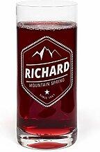 PrintPlanet® Glas mit Namen Richard graviert -