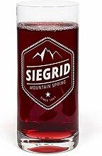 PrintPlanet® Glas mit Namen Siegrid graviert -