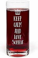 printplanet® Glas mit Namen Sophie graviert -