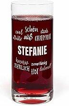 PrintPlanet® Glas mit Namen Stefanie graviert -
