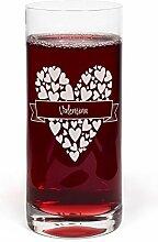 PrintPlanet® Glas mit Namen Valentina graviert -