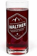 PrintPlanet® Glas mit Namen Walther graviert -