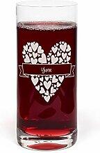 PrintPlanet® Glas mit Namen Yuna graviert -