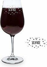 PrintPlanet® Graviertes Rotweinglas - Leonardo®