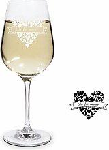 PrintPlanet® Graviertes Weißweinglas -