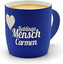 printplanet - Kaffeebecher mit Namen Carmen