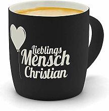 printplanet - Kaffeebecher mit Namen Christian