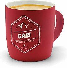 printplanet - Kaffeebecher mit Namen Gabi graviert