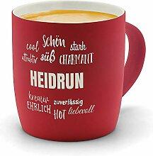 printplanet - Kaffeebecher mit Namen Heidrun