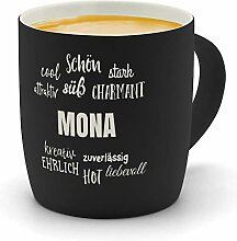 printplanet - Kaffeebecher mit Namen Mona graviert