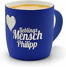 printplanet - Kaffeebecher mit Namen Philipp