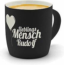 printplanet - Kaffeebecher mit Namen Rudolf