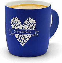 printplanet - Kaffeebecher mit Namen Schwesterherz