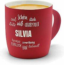 printplanet - Kaffeebecher mit Namen Silvia