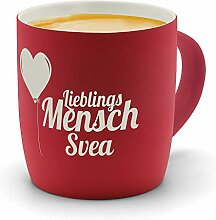 printplanet - Kaffeebecher mit Namen Svea graviert