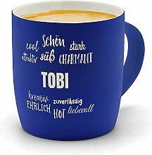printplanet - Kaffeebecher mit Namen Tobi graviert