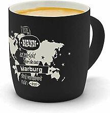 printplanet - Kaffeebecher mit Ort/Stadt Marburg
