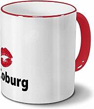 printplanet Städtetasse Coburg - Design Kussmund