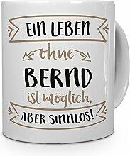 PrintPlanet® Tasse mit Namen Bernd - Motiv