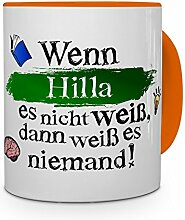 printplanet Tasse mit Namen Hilla - Layout: Wenn
