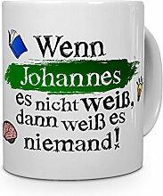 printplanet Tasse mit Namen Johannes - Layout: