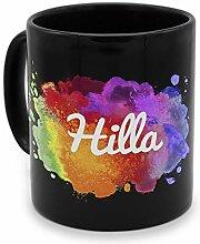 printplanet - Tasse Schwarz mit Namen Hilla -
