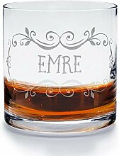 printplanet - Whiskyglas mit Namen Emre graviert.