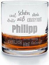 printplanet - Whiskyglas mit Namen Philipp