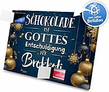 printplanet - XL Adventskalender Schokolade ist