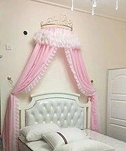 Prinzessin betthimmel,Europäische schmiedeeisen tagesdecke moskito vorhang vorhang dekorative krone netting gardinen-I
