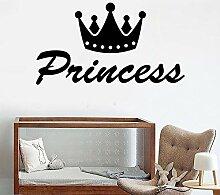 Prinzessin Crown vinyl wandaufkleber dekoration