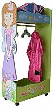 Prinzessin Kleiderständer Spiegel Kindermöbel Kindergarderobe Traum Fee Rosa 124 x 63 x 30 cm