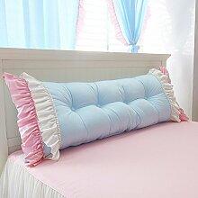 Prinzessin Rückenlehne / Bettkissen / Sofa Kissen Kissen Bett mit / schwangere Mutter Mutter Kissen Kissen ( Farbe : Blau , größe : 180*55*25cm )